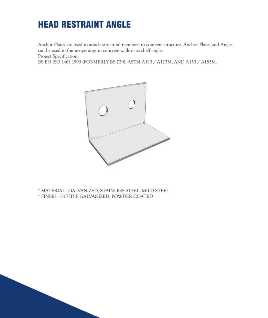 Head Restraint Angle in Dubai, United Arab Emirates - Metex